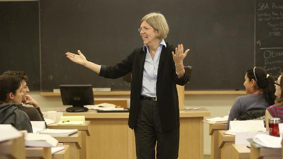 CAMBRIDGE, MA - OCTOBER 20: Elizabeth Warren, Harvard Law professor, is at center of controversy over the proposal to create a national Consumer Financial Protection Agency. (Photo by Suzanne Kreiter/The Boston Globe via Getty Images)
