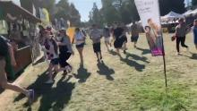 A screengrab taken from video and uploaded to twitter appears to show people scrambling at the Gilroy Garlic Festival