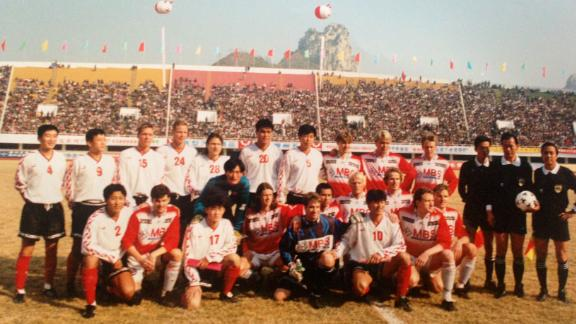 Pelle Blohm with the Dalian team in 1996.