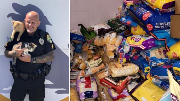 Muncie Police's effort to bring in cat supplies was a big hit.