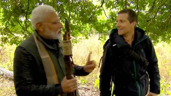 From Twitter: People across 180 countries will get to see the unknown side of PM @narendramodi as he ventures into Indian wilderness to create awareness about animal conservation & environmental change. Catch Man Vs Wild with PM Modi @DiscoveryIN on August 12 @ 9 pm. #PMModionDiscovery