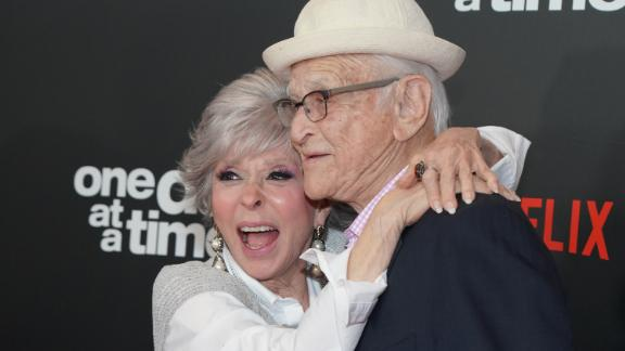 Rita Moreno and Norman Lear attend the premiere of Netflix