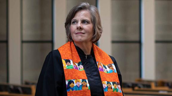 The Rev. Deanna Hollas is now the Presbyterian Church USA