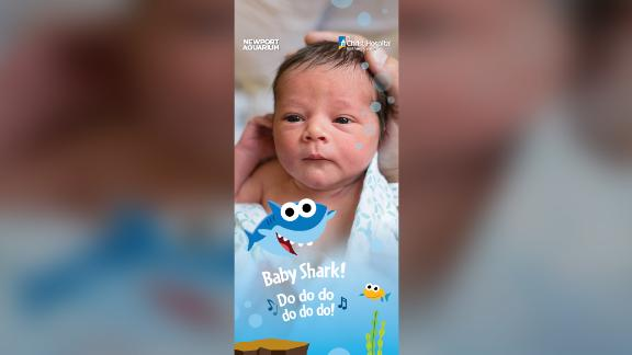 A Baby Shark Snapchat filter was activated at The Christ Hospital's Mt. Auburn and Liberty Township birthing centers, as well as Newport Aquarium.