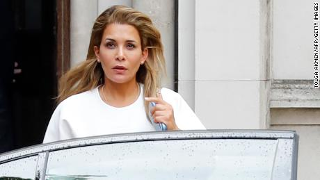 Princess Haya Bint Al Hussein of Jordan leaves the Supreme Court in London on July 30, 2019.