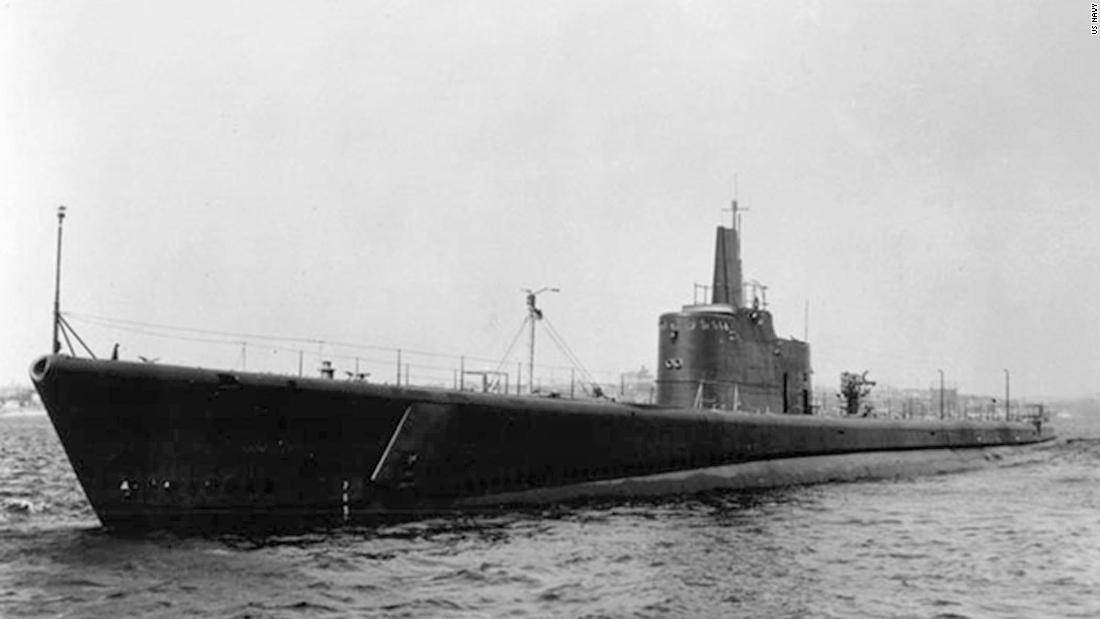 The bow of a World War II submarine was discovered off the coast of the Aleutian Islands