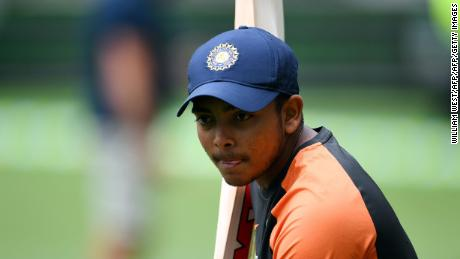 Prithvi Shaw made a century on debut for India in October 2018.