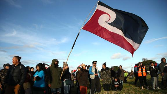 Protesters gathered in the city of Auckland to protest child removals from Maori families and the development of sacred land.