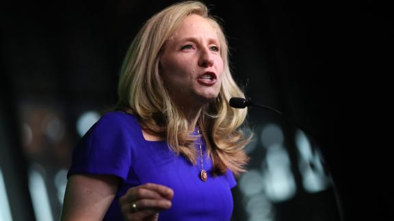RICHMOND, VIRGINIA - JUNE 15: Rep. Abigail Spanberger (D-VA) speaks at the 2019 Blue Commonwealth Gala fundraiser June 15, 2019 in Richmond, Virginia. Nearly 1,800 attended the event featuring Democratic presidential candidate and South Bend, Indiana Mayor Pete Buttigieg and Democratic presidential candidate Sen. Amy Klobuchar (D-MN). (Photo by Win McNamee/Getty Images)