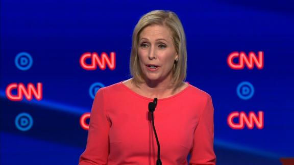 Presidential candidate Kirsten Gillibrand participates in the CNN Democratic debate in Detroit on Wednesday, July 31.