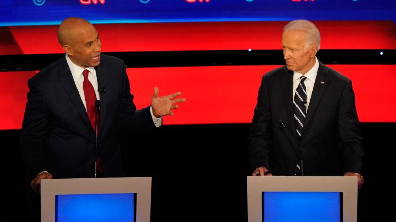 Biden's rivals attack, and he fires back