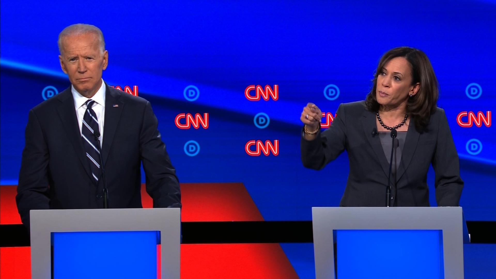 Joe Biden and Kamala Harris reignite battle over busing - CNN Video