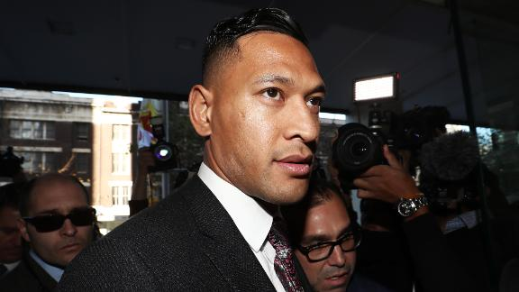 Israel Folau had his contract terminated after homophobic comments made on social media.
