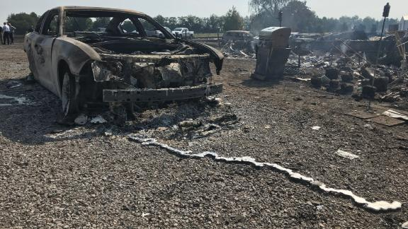 Photos from the scene of a gas explosion in Lincoln County, Kentucky.
