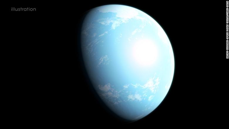 This is an artist's interpretation of what super-Earth GJ 357 d might look like. It lies within the habitable zone of its star which is 31 light-years from Earth.