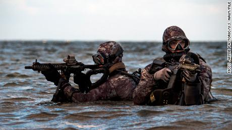Sailors assigned to Naval Special Warfare Group 2 conduct military dive operations off the East Coast of the United States.
