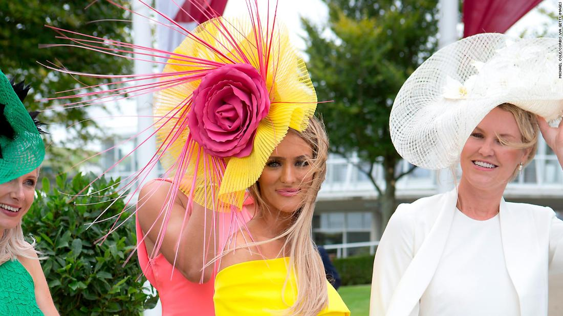 It's a chance for racegoers to dress up in finery, especially on Ladies' Day.
