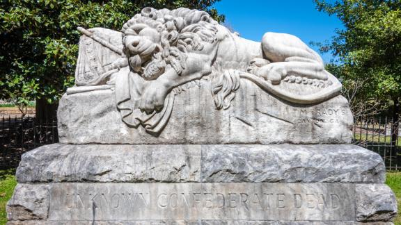 The Lion of the Confederacy, or The Lion of Atlanta, at Oakland Cemetery.
