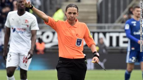 Stéphanie Frappart became the first women to officiate a Ligue 1 men's match.