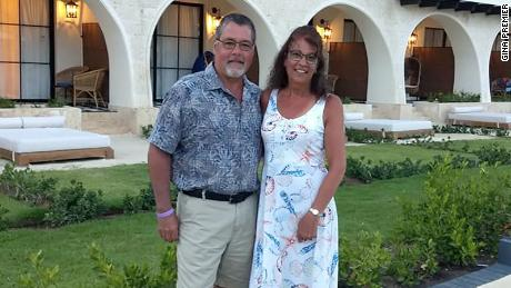 Matthew and Marie Trainer on vacation in Dominican Republic days before a life-threatening infection sent her to the hospital.