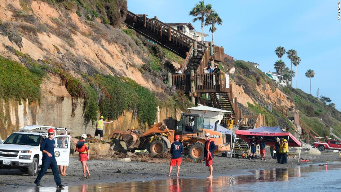 Three people were killed after a cliff collapsed on an Encinitas beach
