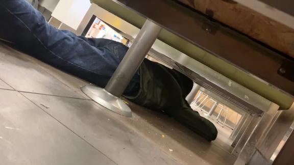 Man hides under table El Paso Walmart