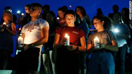 A vigil is held for the victims of the deadly shooting in El Paso.