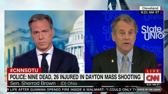 Ohio Sen  Brown slams Trump after Dayton shooting