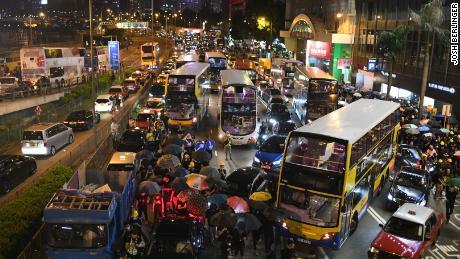 Hong Kong Protests Streets Blocked Police Station Attacked Cnn
