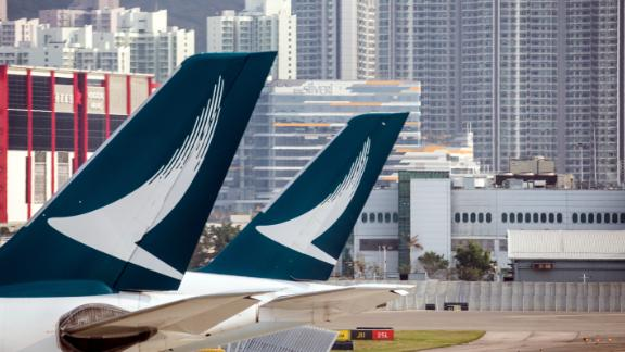 Cathay Pacific canceled more than 150 flights on Monday as Hong Kong grapples with mass demonstrations.