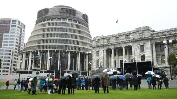 Anti-abortion protesters gathered on May 28 in Wellington to protest changes to the law.