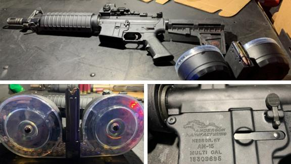 Dayton police released photos of the weapon and drum magazines used in the attack.