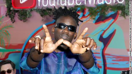 Mr Eazi at the YouTube Music Artist Lounge at Coachella 2019