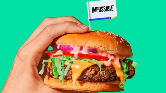 Plant-based meat such as Impossible Burger is gaining popularity.