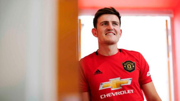 Harry Maguire has been unveiled as Manchester United's latest signing.