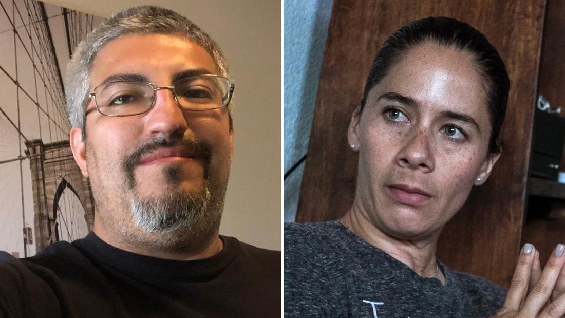 Walmart employee Gilbert Serna and customer Adria Gonzalez helped lead people to safety.