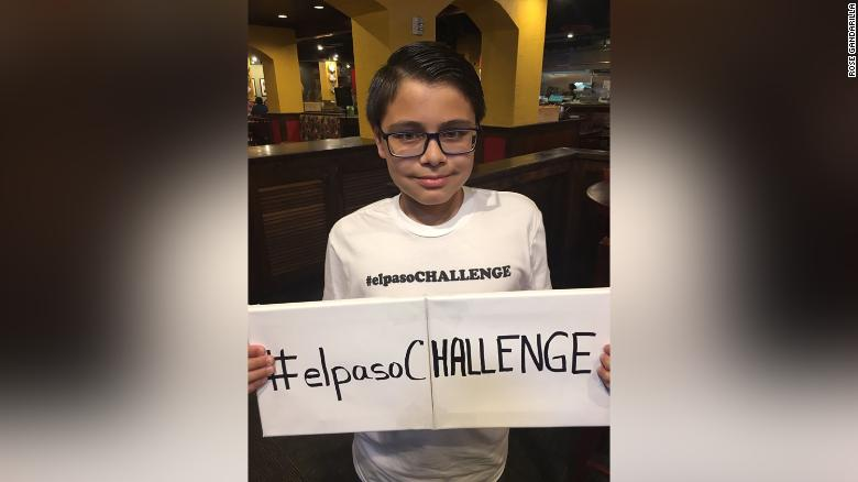 Ruben Martinez, 11, has a challenge for El Paso residents that he hopes will help them heal after the Walmart shooting.