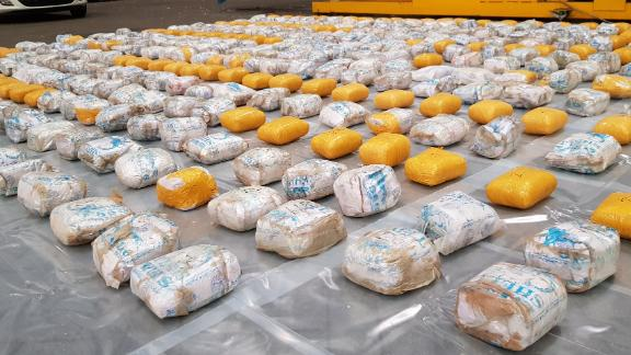 Approximately 398 kilograms of heroin was removed from the shipping container.