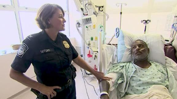 Donna Sifford reunites with El Paso shooting survivor Christopher Grant, whose life she saved.