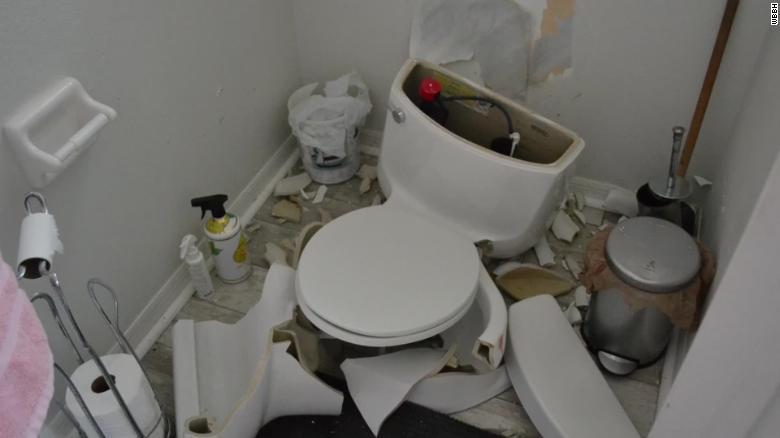 Surprising Toilet Explodes After Lightning Strike Pabps2019 Chair Design Images Pabps2019Com