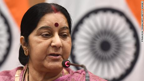 Shushma Swaraj was India's foreign minister from 2014 to 2019.