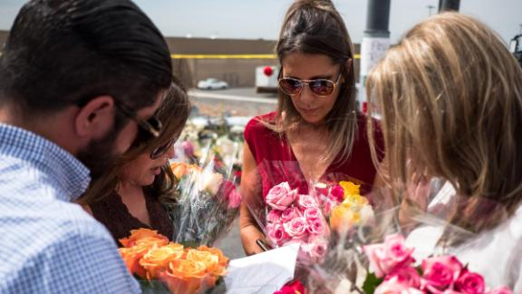 Prayers near the site of the Walmart shooting in El Paso, Texas.