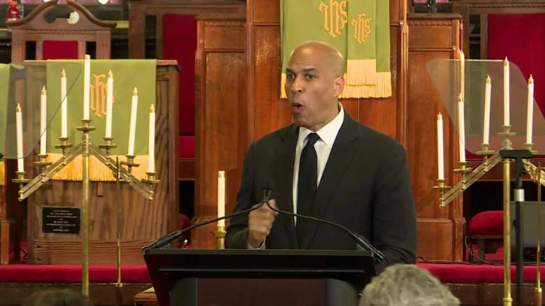 Booker speaks on racism, white supremacy