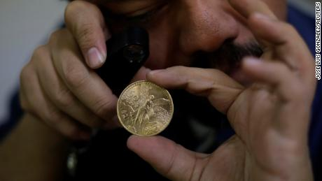 The stolen gold coins, known as 'centenarios,' are worth around $2.5 million in total.