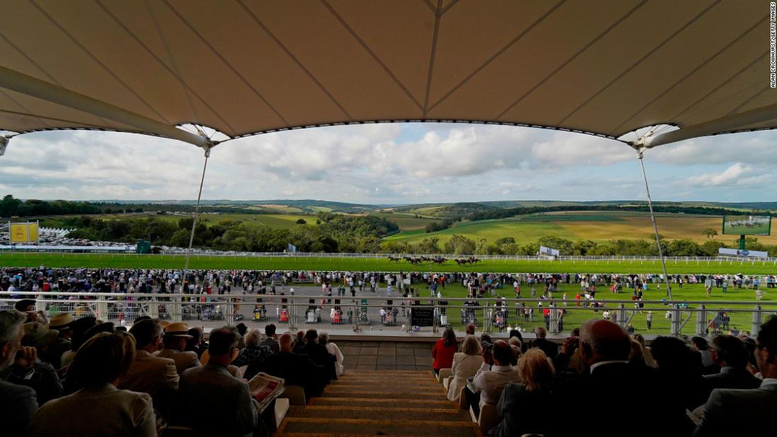 Goodwood racecourse offers far-reaching views across the Sussex Downs in the south of England.