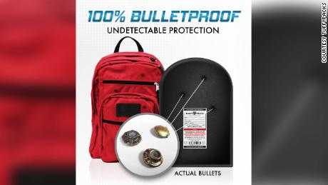 Sales of bulletproof backpacks surged 200% to 300% in the