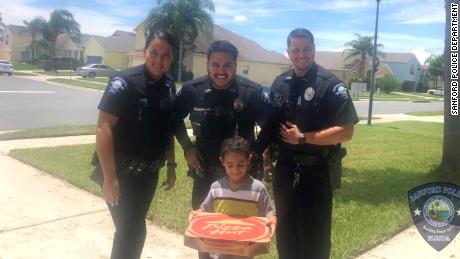 A Florida boy called 911 for a pizza and learned a little about civic duty.