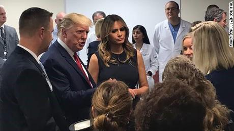 Photo of President Donald Trump During HIs Visit Today at Miami Valley Hospital