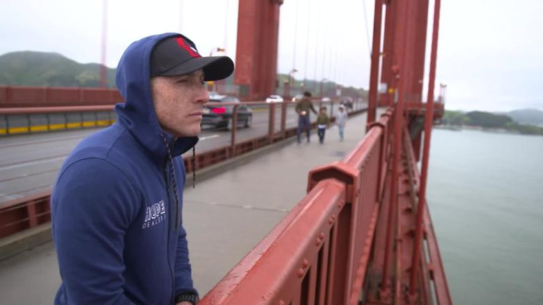He survived his suicide attempt at the Golden Gate Bridge  Now, his dream  of a safety net going up is coming true