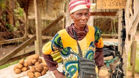 Christine Banlog, 64, is raising her three grandchildren in Nyalla, an area in Douala, Cameroon.